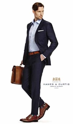 Hawes and Curtis formal menswear eCommerce hair and makeup