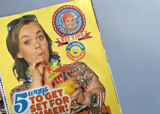 Ellie simmonds Top of the tops magazine 2